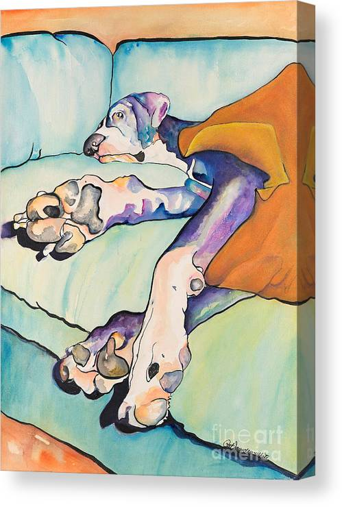 Pat Saunders-white Canvas Print featuring the painting Sweet Sleep by Pat Saunders-White