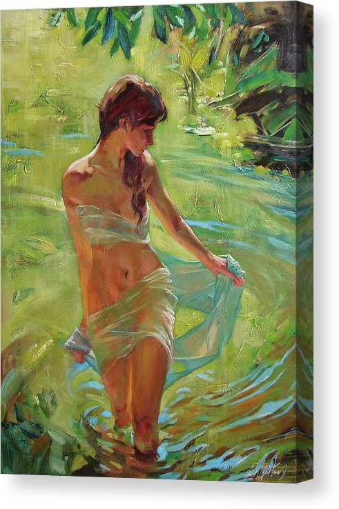 Ignatenko Canvas Print featuring the painting The allegory of summer by Sergey Ignatenko