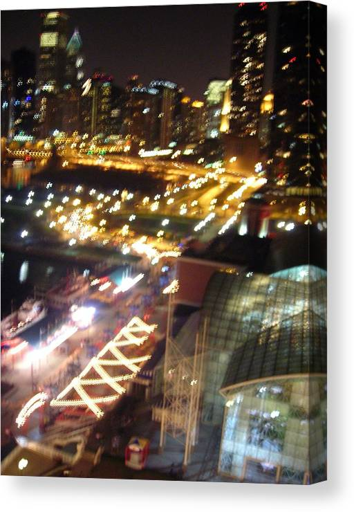 Chicago Canvas Print featuring the photograph The Fast Lane by Peter Mowry