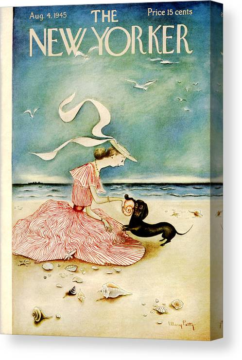 Summer Canvas Print featuring the painting New Yorker August 4 1945 by Mary Petty