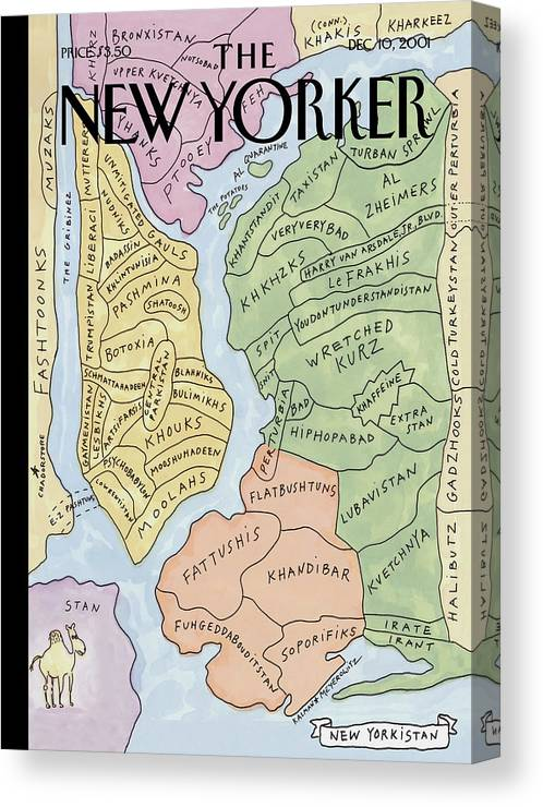 New Yorkistan Canvas Print featuring the painting New Yorkistan by Maira Kalman and Rick Meyerowitz