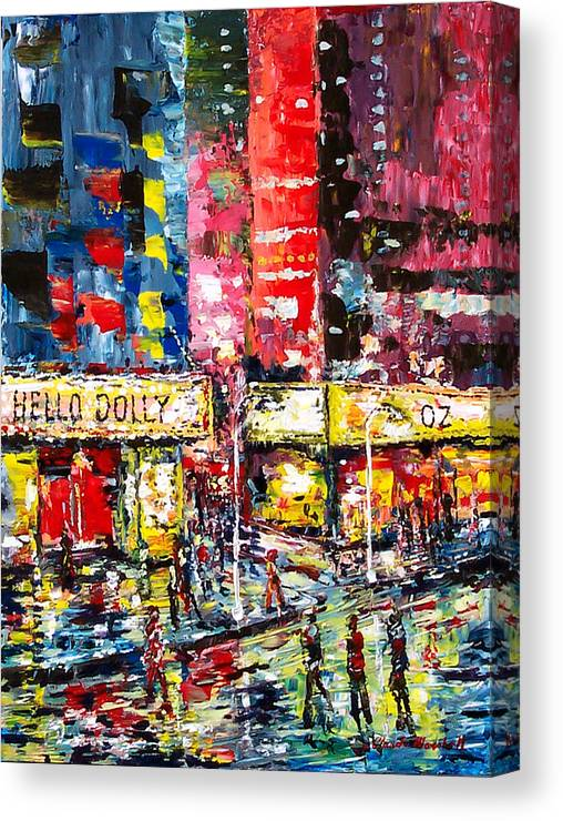Abstract Canvas Print featuring the painting Theatre Avevue by Claude Marshall