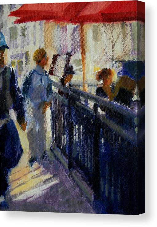 Cityscape Canvas Print featuring the painting Today by Merle Keller