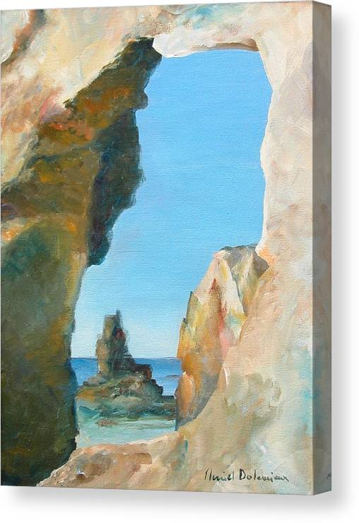 Paysage Canvas Print featuring the painting Trouee 1 by Muriel Dolemieux