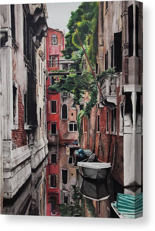 Italy Canvas Print featuring the painting Venice by Lamark Crosby