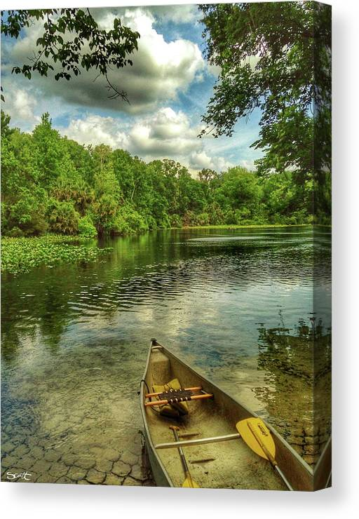 Florida Canvas Print featuring the digital art Wakiva Springs by Scott Waters