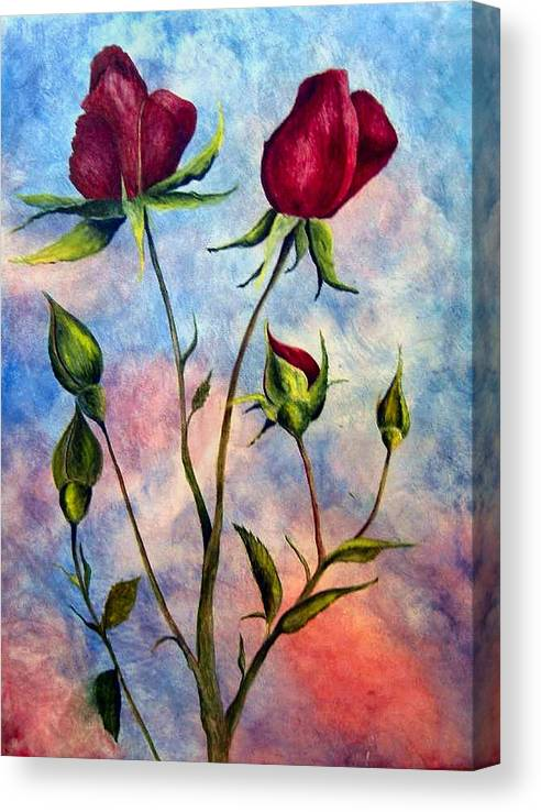 Rose Canvas Print featuring the painting Woop Woop Rose by JoLyn Holladay