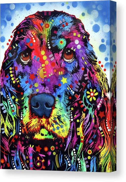 Cocker Spaniel Canvas Print featuring the mixed media Cocker Spaniel by Dean Russo