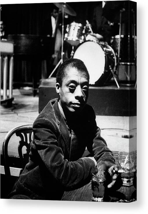 Timeincown Canvas Print featuring the photograph James Baldwin by Carl Mydans