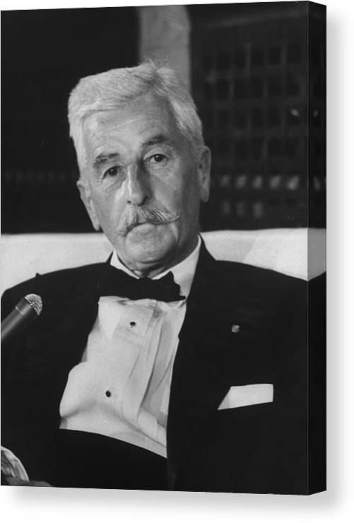 Timeincown Canvas Print featuring the photograph William Faulkner by Carl Mydans