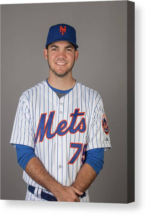 Media Day Canvas Print featuring the photograph 2015 New York Mets Photo Day by C.j. Walker