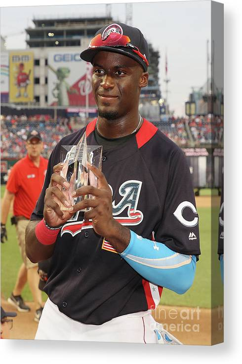 People Canvas Print featuring the photograph Siriusxm All-star Futures Game by Rob Carr