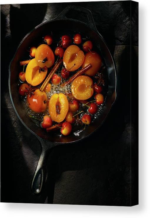 Cherry Canvas Print featuring the photograph Food by Brian Macdonald