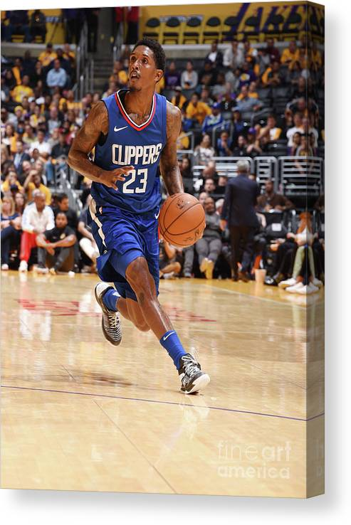 Nba Pro Basketball Canvas Print featuring the photograph La Clippers V Los Angeles Lakers by Andrew D. Bernstein