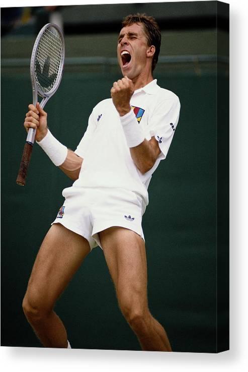1980-1989 Canvas Print featuring the photograph Wimbledon Lawn Tennis Championship by Bob Martin