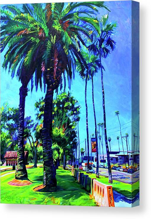Southwest Canvas Print featuring the painting A Place of Calm by Bonnie Lambert