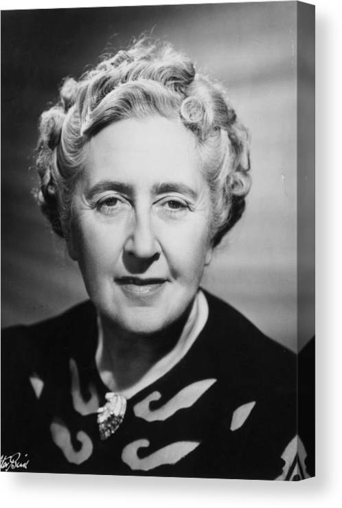 People Canvas Print featuring the photograph Agatha Christie by Walter Bird