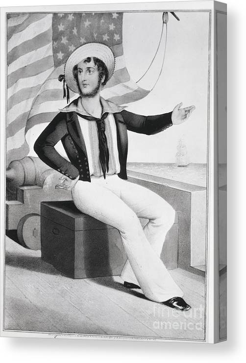 People Canvas Print featuring the photograph American Sailor Lithograph by Bettmann