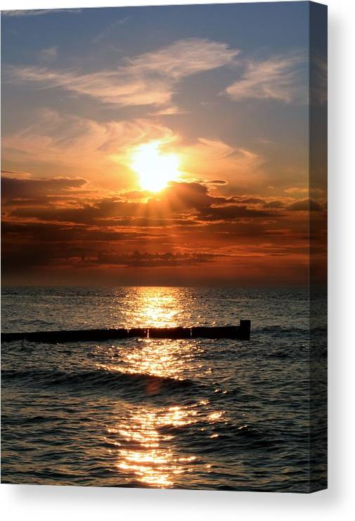 Tranquility Canvas Print featuring the photograph Baltic Sunset by © Jan Zwilling