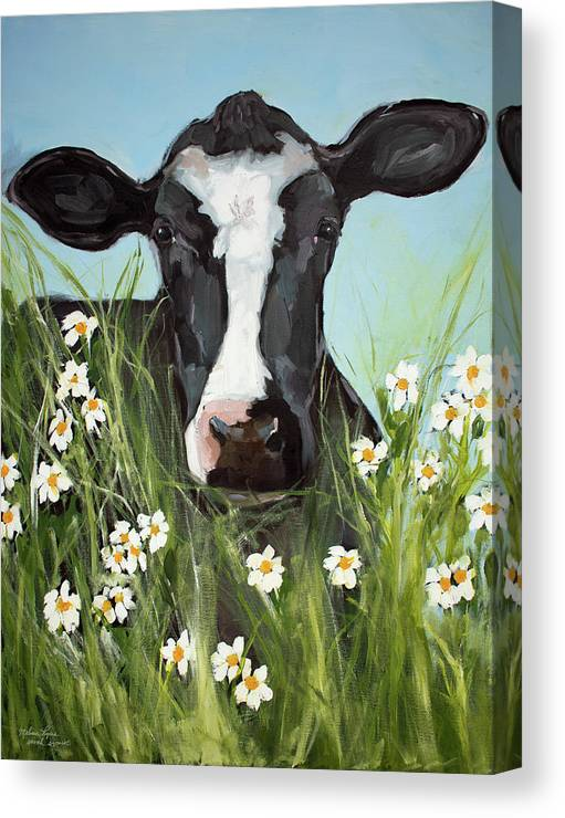 Vertical Canvas Print featuring the painting Daisy by Melissa Lyons