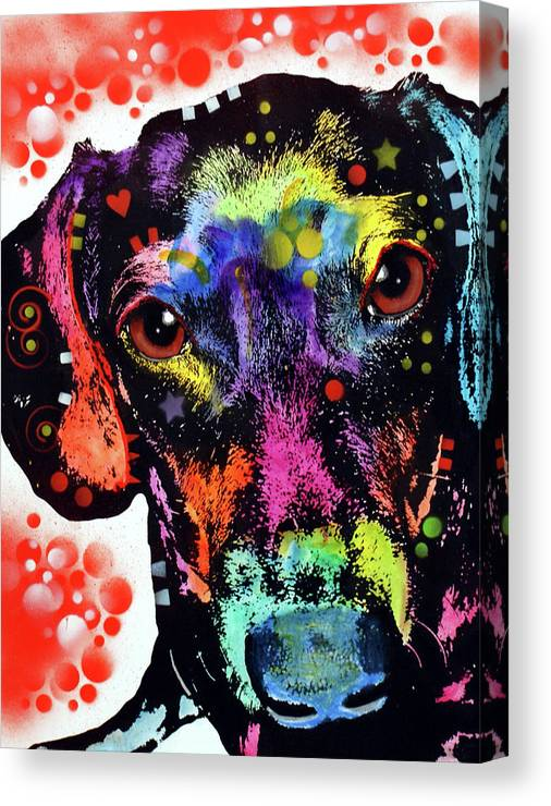 Dox Canvas Print featuring the mixed media Dox by Dean Russo