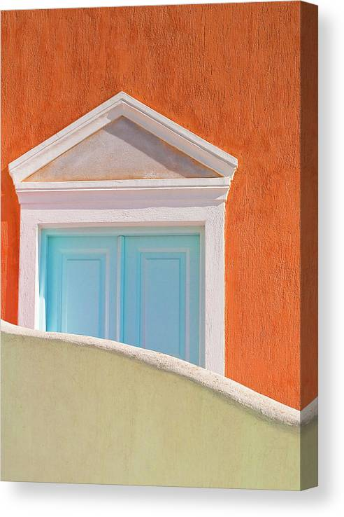 Tranquility Canvas Print featuring the photograph Geometry And Color by Marius Roman