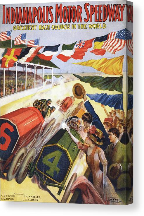 Crowd Canvas Print featuring the photograph Indianapolis Motor Speedway by Graphicaartis