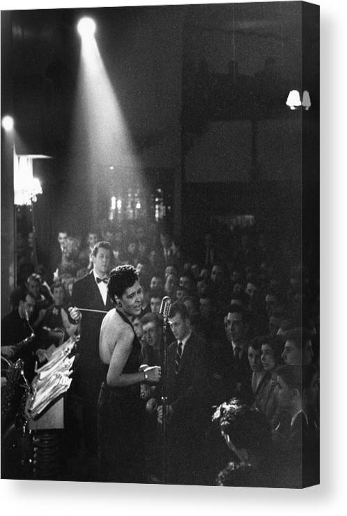 Singer Canvas Print featuring the photograph Lady Day by Charles Hewitt