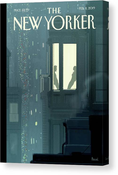Love Interest Canvas Print featuring the painting Love Interest by Pascal Campion