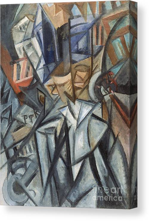 Oil Painting Canvas Print featuring the drawing Man On The Street Analysis Of Volumes by Heritage Images