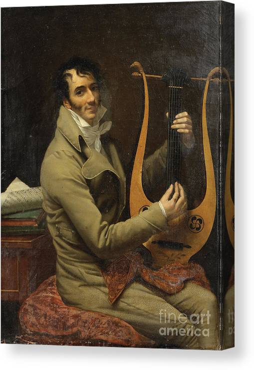 Oil Painting Canvas Print featuring the drawing Portrait Of Jean-dominique Fabry Garat by Heritage Images