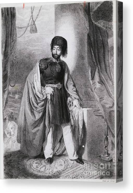 Art Canvas Print featuring the photograph Portrait Of Turkish Emperor Mahmoud by Bettmann