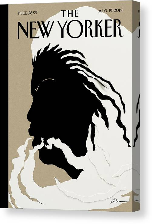 Toni Morrison Canvas Print featuring the mixed media Quiet As Its Kept by Kara Walker