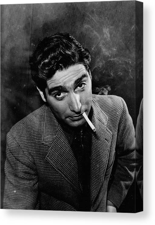 Timeincown Canvas Print featuring the photograph Robert Capa by Alfred Eisenstaedt