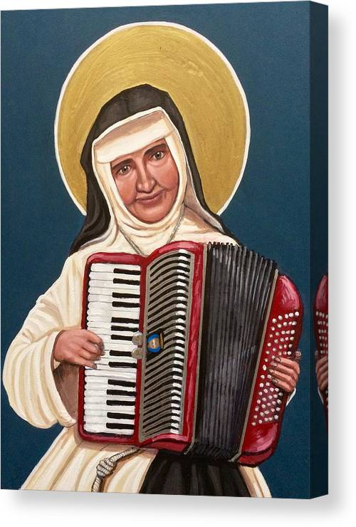 Canvas Print featuring the painting Saint Dulce of the Poor by Kelly Latimore