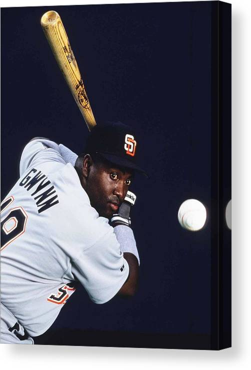 Tony Gwynn Sr. Canvas Print featuring the photograph San Diego Padres by Ronald C. Modra/sports Imagery
