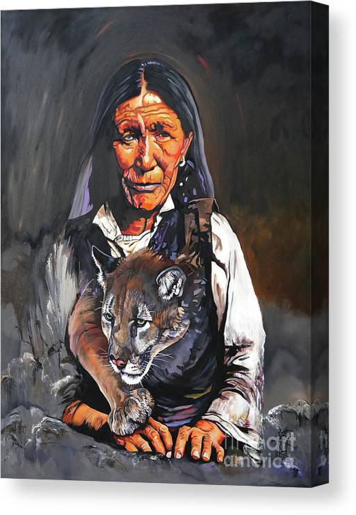 Collectible Canvas Print featuring the painting Spirit Within by J W Baker
