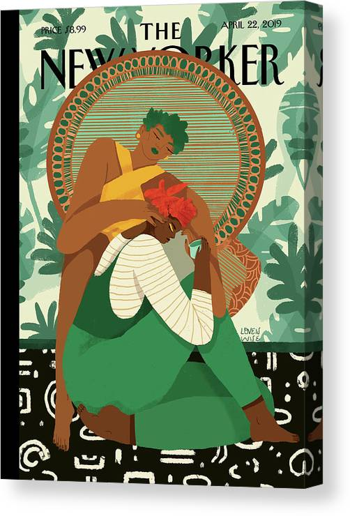 Wise Woman Canvas Print featuring the painting Taking Care by Loveis Wise