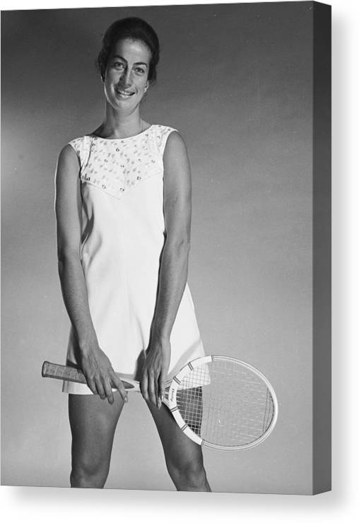 Tennis Canvas Print featuring the photograph Virginia Wade by Chaloner Woods