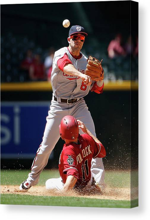 Double Play Canvas Print featuring the photograph A. J. Pollock by Christian Petersen