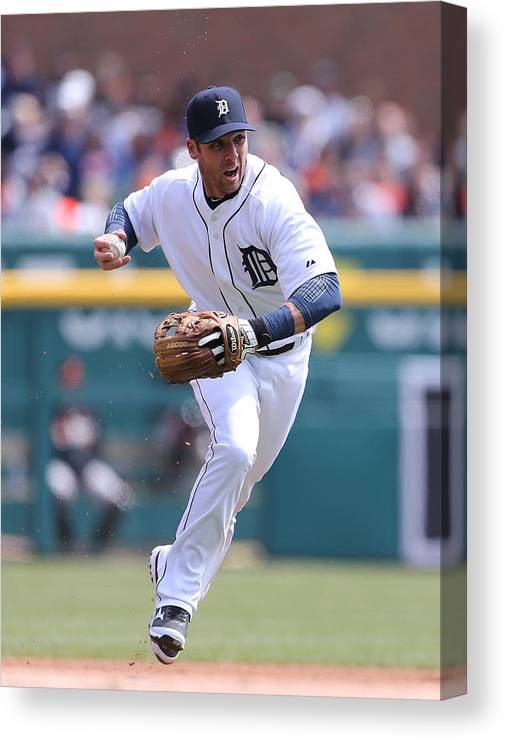 Andrew Romine Canvas Print featuring the photograph Andrew Romine by Leon Halip