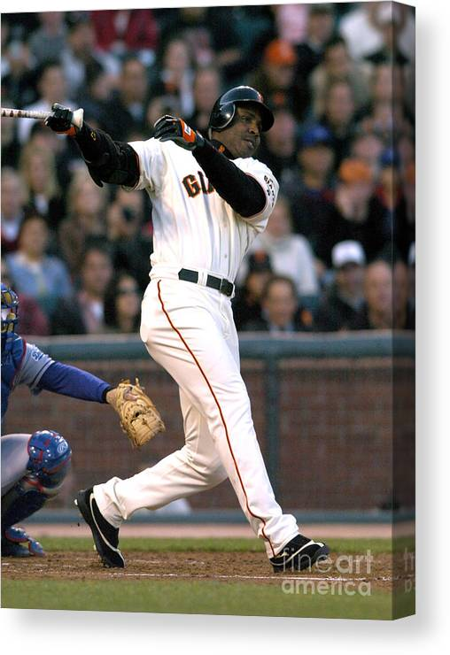 California Canvas Print featuring the photograph Barry Bonds by Kirby Lee