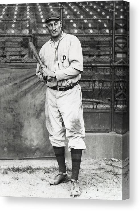 Season Canvas Print featuring the photograph Honus Wagner by National Baseball Hall Of Fame Library