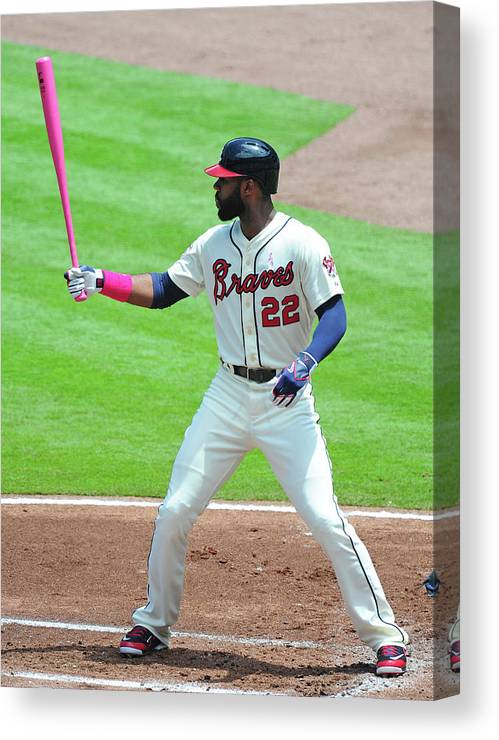 Atlanta Canvas Print featuring the photograph Jason Heyward by Scott Cunningham