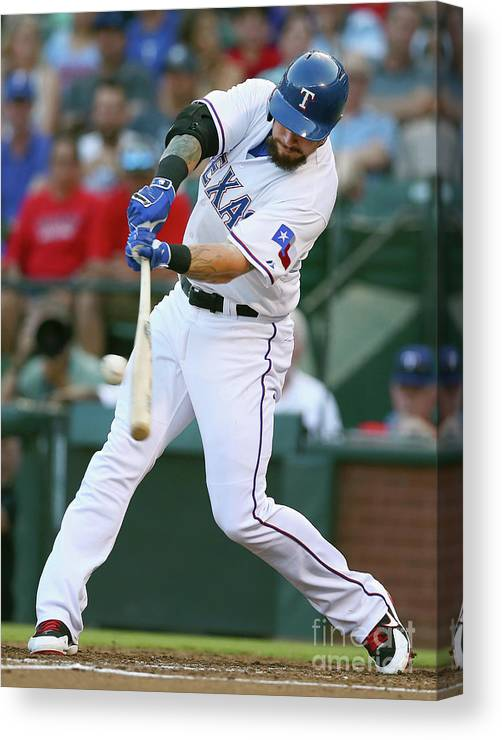 Second Inning Canvas Print featuring the photograph Josh Hamilton by Tom Pennington