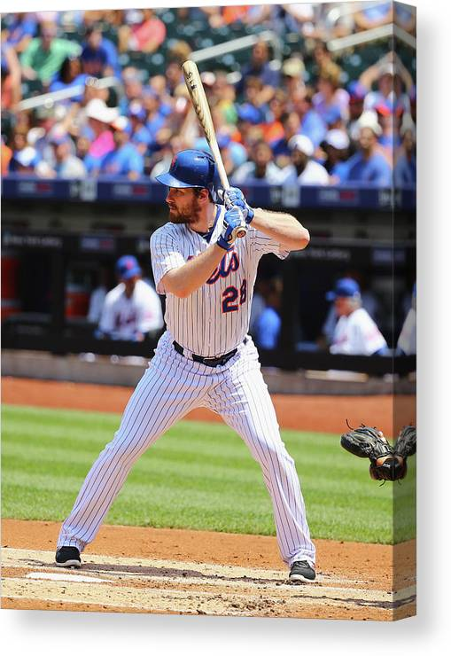 People Canvas Print featuring the photograph Lucas Duda by Al Bello