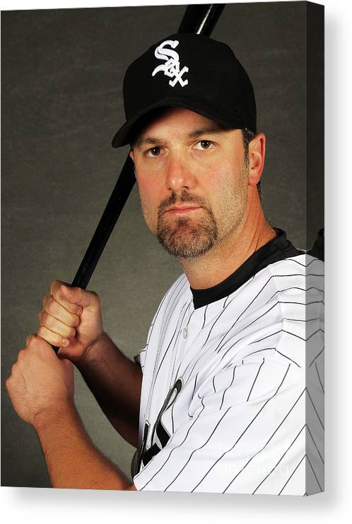 Media Day Canvas Print featuring the photograph Paul Konerko by Jamie Squire