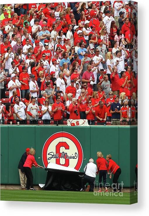 St. Louis Cardinals Canvas Print featuring the photograph Stan Musial by Dilip Vishwanat
