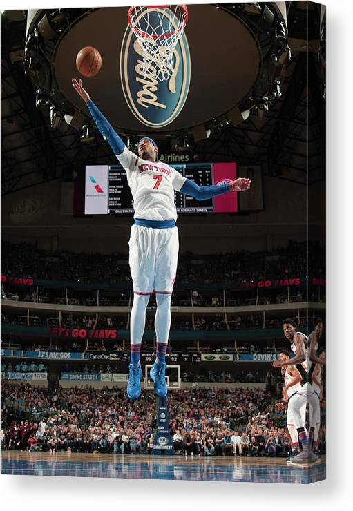 Nba Pro Basketball Canvas Print featuring the photograph Carmelo Anthony by Glenn James