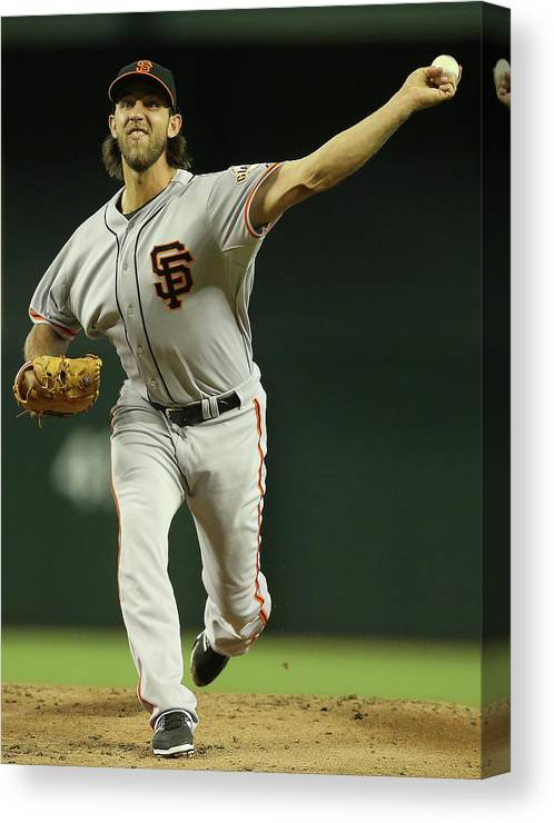 Baseball Pitcher Canvas Print featuring the photograph Madison Bumgarner by Christian Petersen